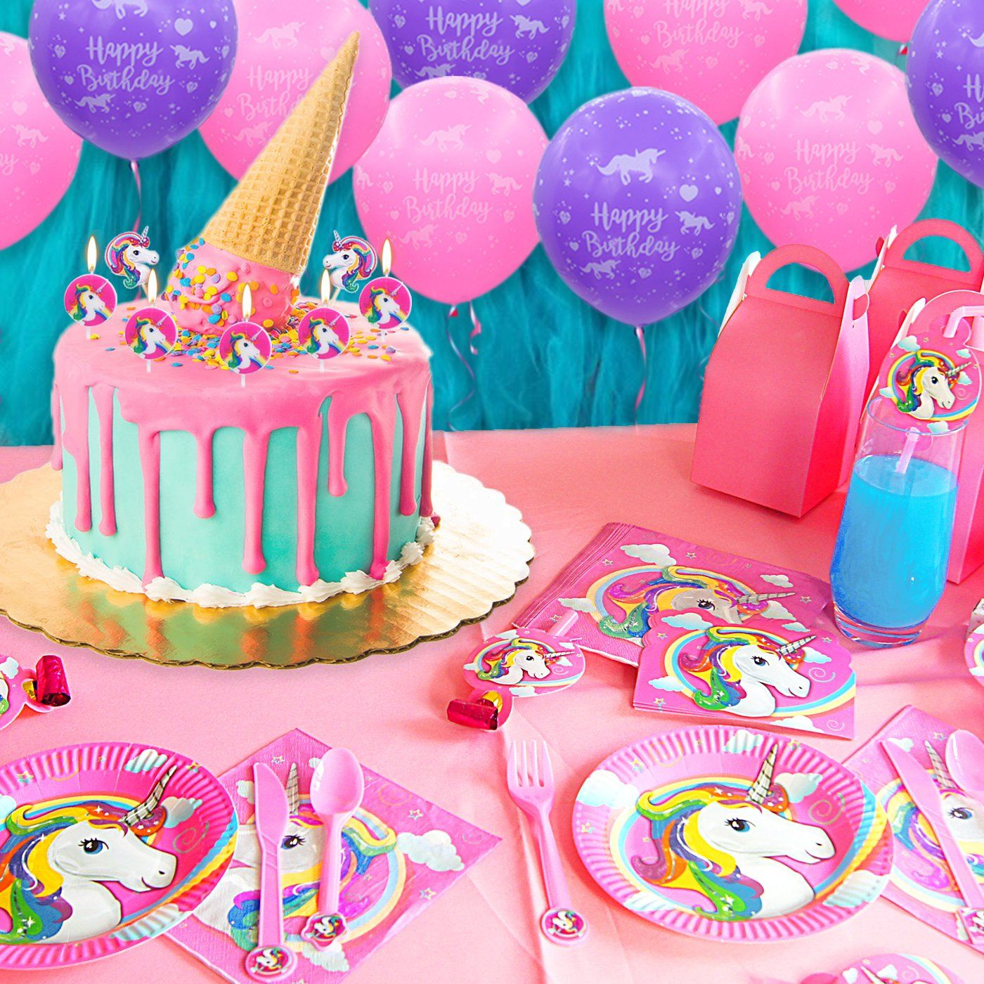 Pawliss 145ct Unicorn Birthday Party Decorations Supplies Kit Favor Boxe Unicorn Birthday Party Decorations Birthday Party Decorations Unicorn Birthday Parties