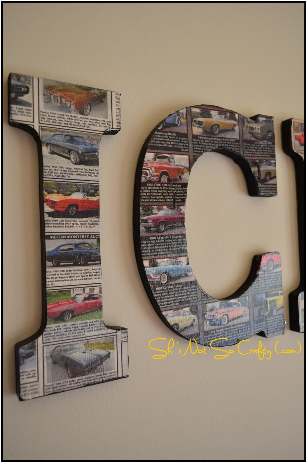 Car Themed Kid S Room Mod Podge Classic Car Classifieds
