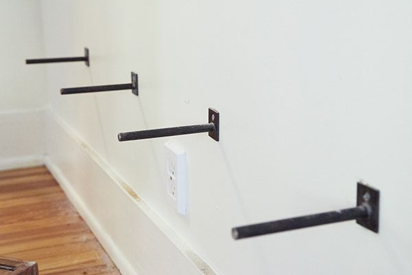 How To Hang Floating Shelves Pegs For Floating Shelves Tutorial For The Office  Pinterest
