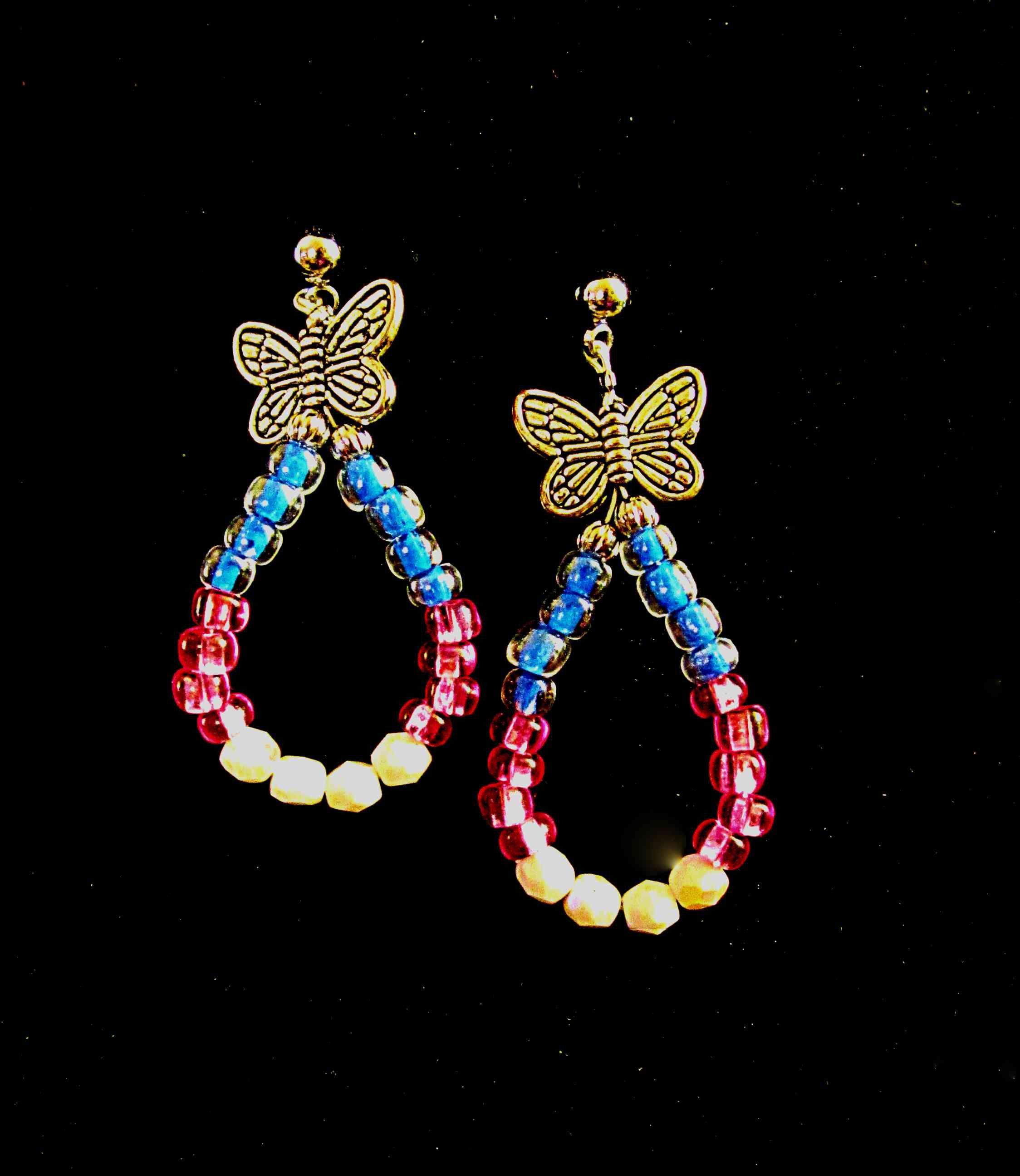 Transgender Butterfly earrings