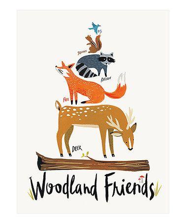Another great find on #zulily! 'Woodland Friends' Art Print by Idlewild Co. #zulilyfinds