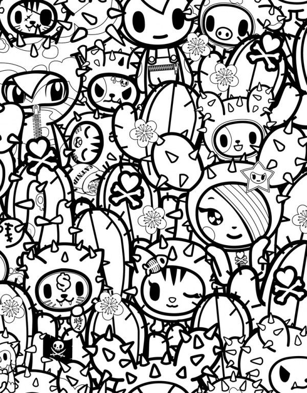 tokidoki coloring pages Tokidoki Special Edition Color Ink Book | tokidoki | Coloring  tokidoki coloring pages
