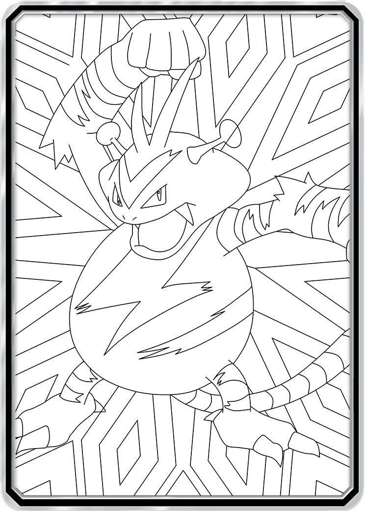 Color Me Electabuzz Custom Pokemon Coloring Card Pokemon Coloring Color Card Pokemon