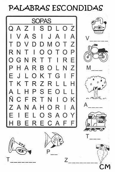 Pin de Monica Garcia Rendon en sopa de letras y juegos