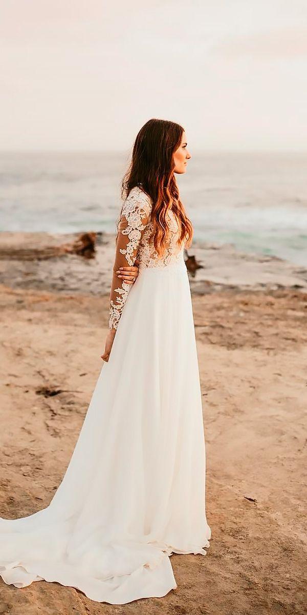 30 Wonderful Beach Wedding Dresses For Hot Weather Beach Wedding