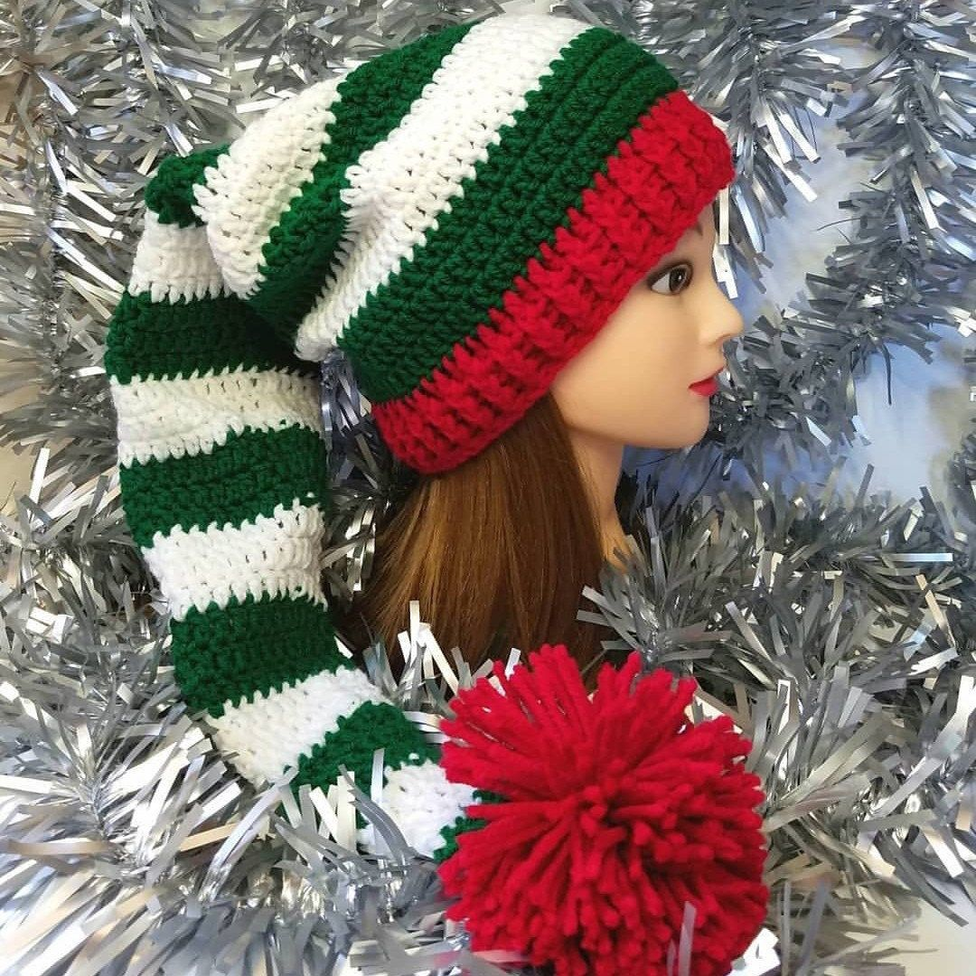 LIMITED STOCK! Crochet Elf Hat - Fits Teens-Adult Large (22