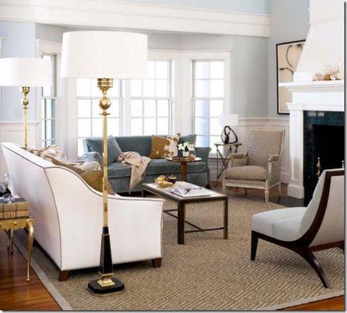 Great Example Of Large Floor Lamps On Either Side Of The Sofa Awesome Bay Window Living Room Design Design Ideas