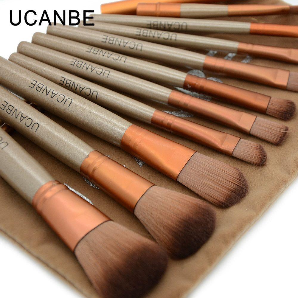 Professional Makeup Brushes 12 Piece Set Essential Kit
