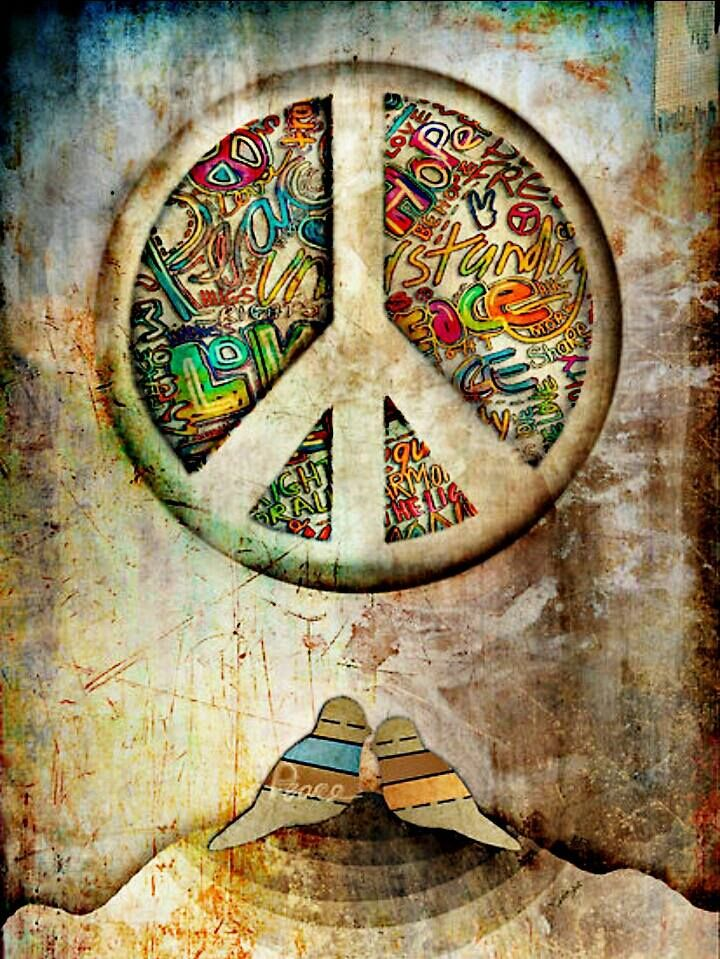 American Hippie Art ~ Peace ☮ | My hippy side ^.^y in 2019 ...