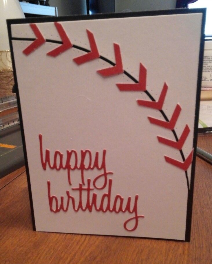Sherylu0027s Crafting Corner Baseball sports theme birthday card - birthday invitation homemade