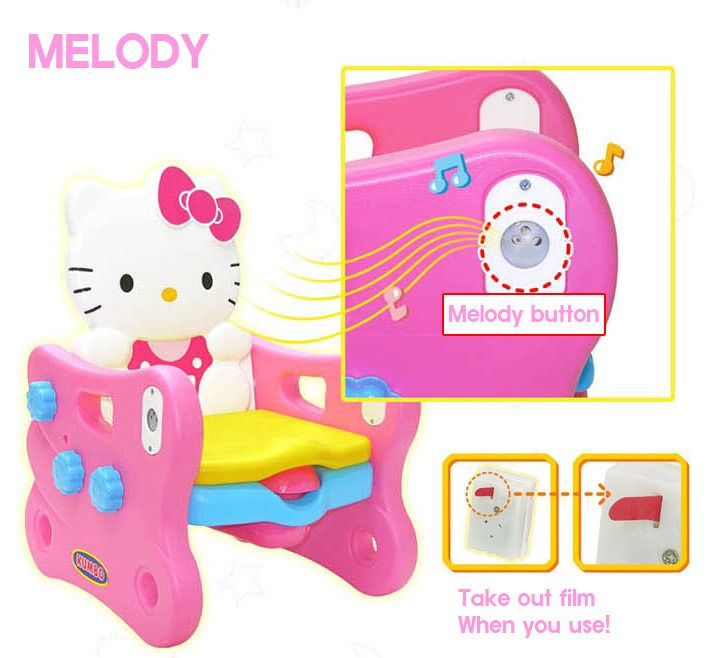 Hello Kitty Potty Chair Training seat Baby Toilet restroom / Melody