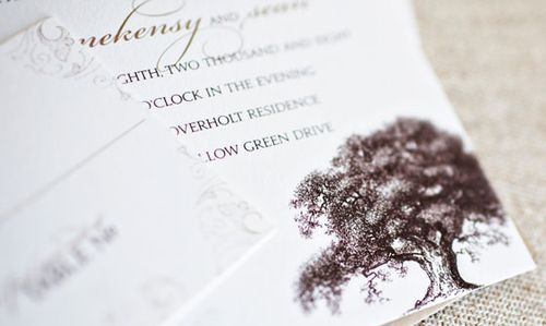 1000+ images about Wedding Invitations on Pinterest   Trees, Read ...