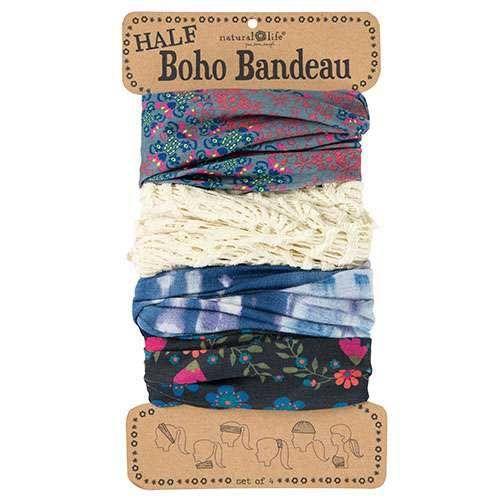 Cream Black Mandala Half Boho Bandeau Women/'s Boho Bandeau Natural Life