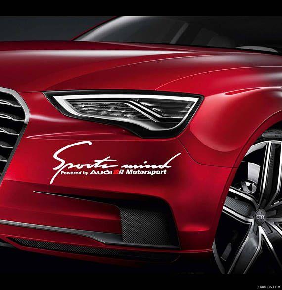 Sports Mind Powered By Audi Sport Vinyl Decal Sticker