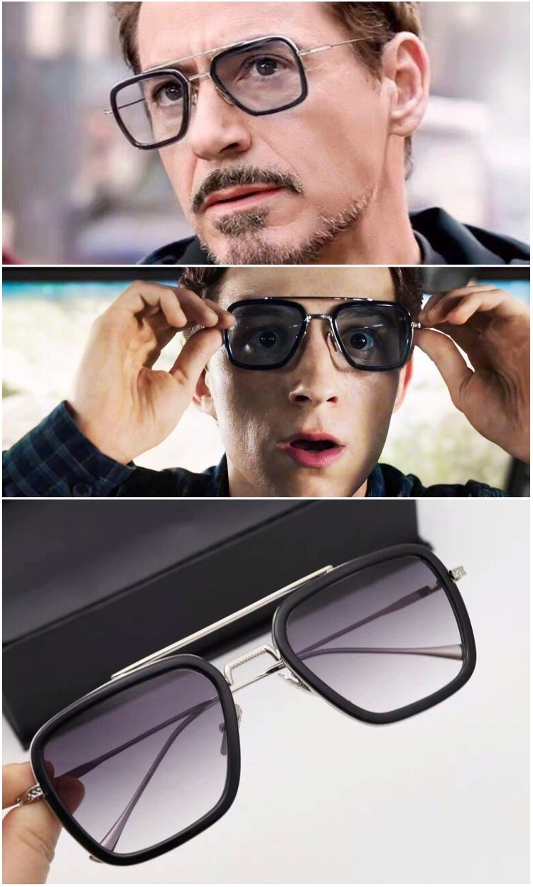 Mens Polarized Glasses Tony Stark Iron Men Sunglasses Gradient Lens Fashion NEW