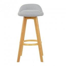 Wondrous Athena Wooden Fixed Height Bar Stool Grey Pu Stools Grey Gmtry Best Dining Table And Chair Ideas Images Gmtryco