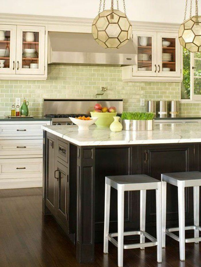 Le carrelage mural en 50 variantes pour vos murs! Kitchens - couleur cuisine avec carrelage beige