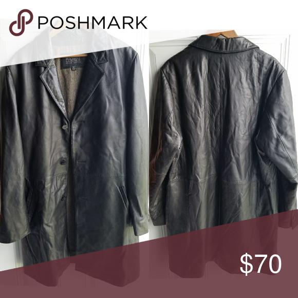 Wilsons Leather Pelle Studio Mens Long Jacket Mens long