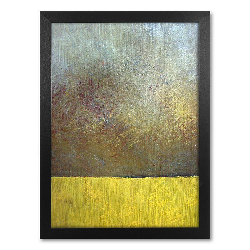 Eh Study II Framed Canvas Wall Art by Michelle Calkins, Yellow