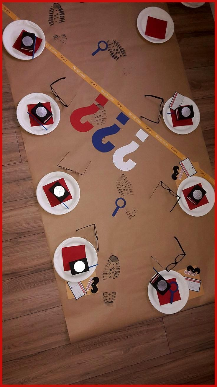 Detective Party Thank you for this great idea for children
