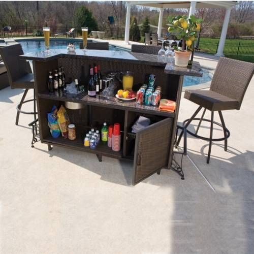 outdoor bar table and chairs high chair target au sets clearance pinterest patio