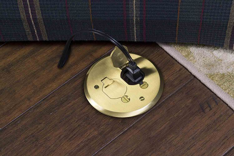 How To Install An Electrical Floor Outlet In The Middle Of