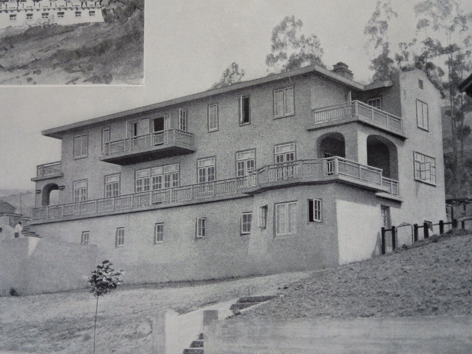 Alexander Sclater, Esq. House, Claremont Hills, CA, 1911, Lithograph