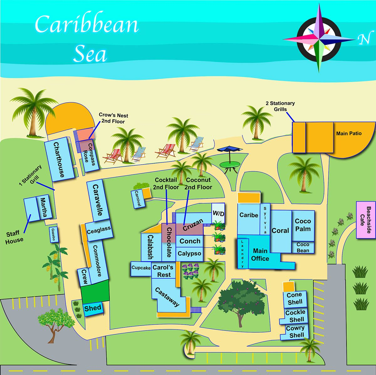 Map of Cottages by the Sea Frederiksted St Croix Places Ive