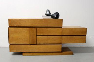 mobile con specchio arch. leonardo savioli produzione italiana anni '60 nero design arezzo 1