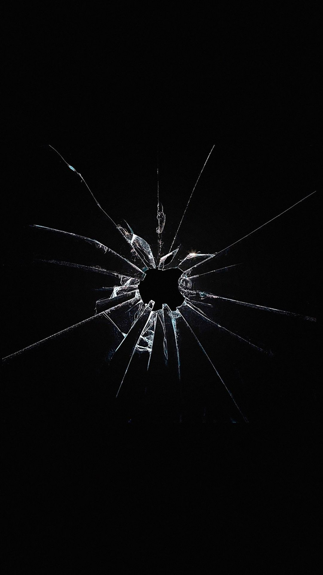 Apple Logo Window Dark Broken iPhone 6 wallpaper