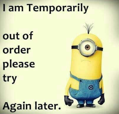 Temporarily Out Of Order Minions Minions Funny Funny Minion Quotes Minions