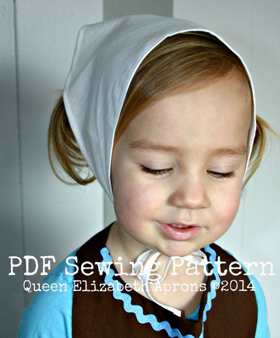 Adult / Child Kerchief Head covering Scarf PDF SEWING PATTERN ...