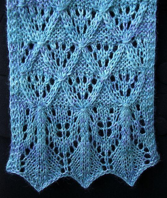 Free Beautiful Lace Scarf Pattern | Knitting Women | Pinterest ...