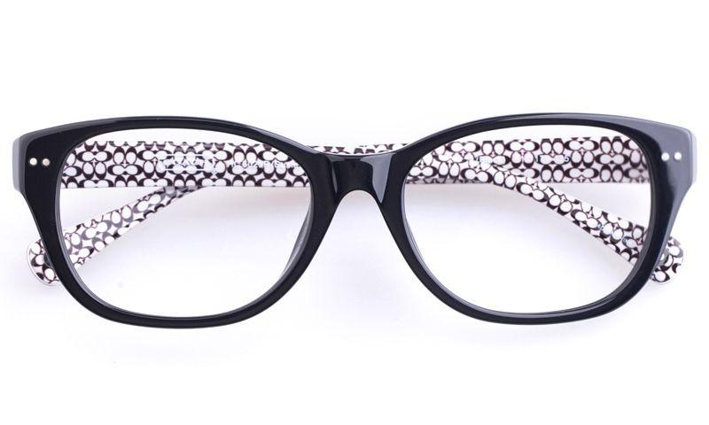 dcb09a7f219e Coach HC6029F Acetate Womens Oval Full Rim Optical Glasses(Black ...
