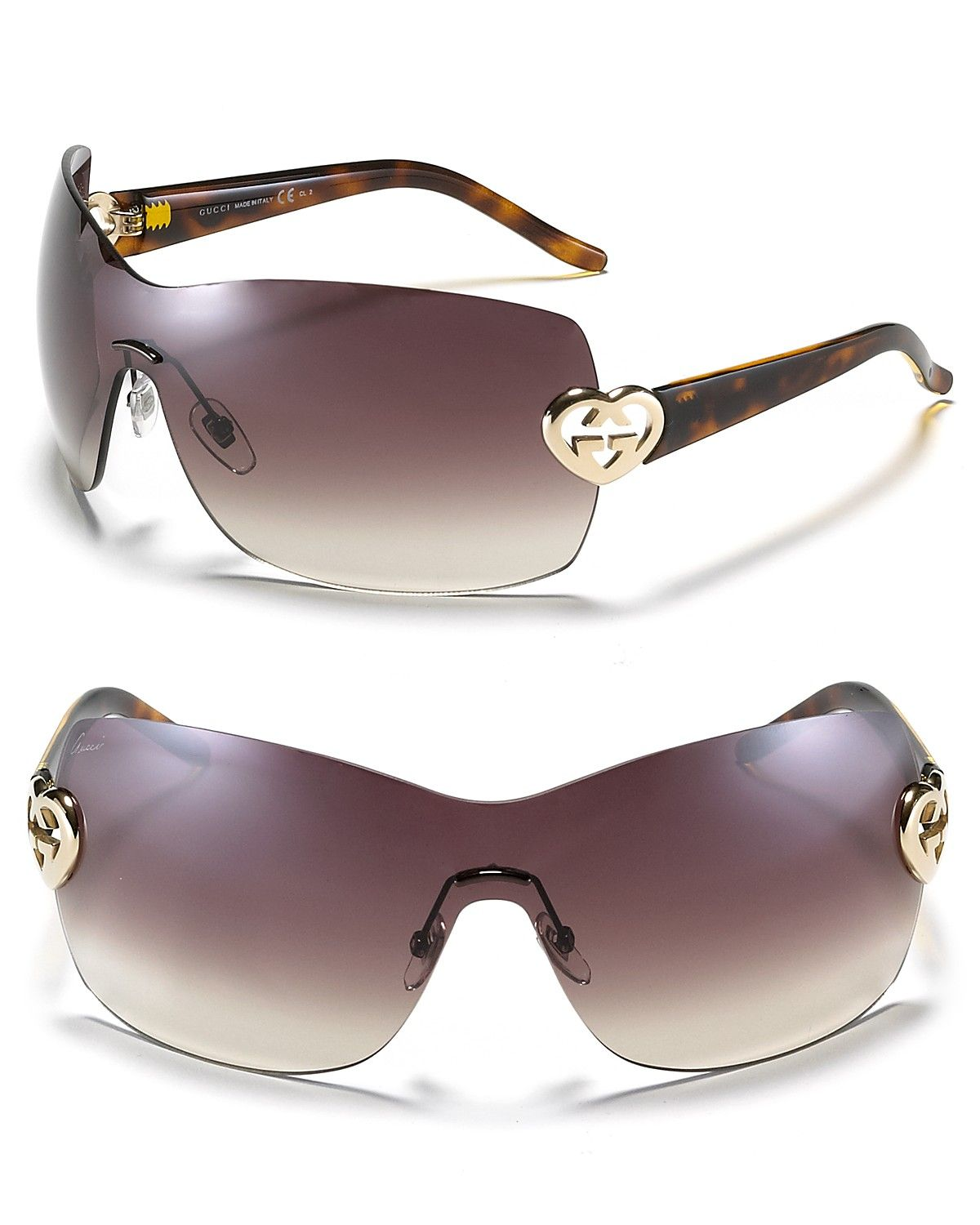 f49b642bbb7 Gucci Shield Sunglasses with G Heart Logo - Gucci - Designer Shops - Jewelry    Accessories - Bloomingdale s