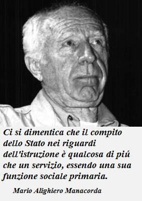 Mario Alighiero Manacorda dixit | Istruzione, Citazioni, Riflessioni