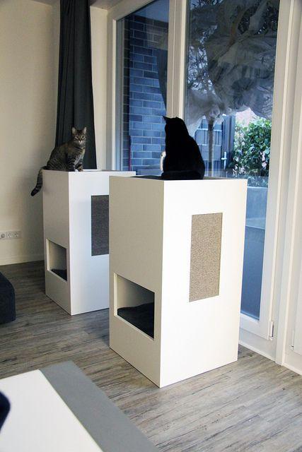 Stylish self designed cat tower selbst entworfenes katzenm bel design by kochtrotz all - Katzenmobel design ...