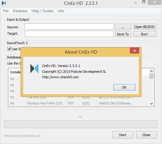 cinex hd free key