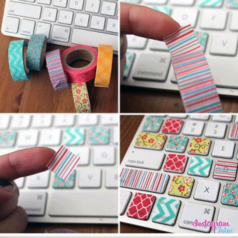 Diy Laptop Decorations Diy Washi Diy Washi Tape Keyboard Washi