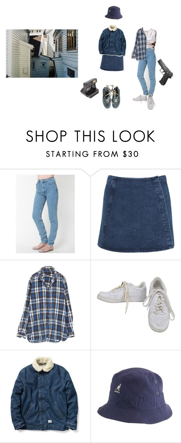 """I hate school !"" by eatciggerettes ❤ liked on Polyvore featuring ファッション, Miss Selfridge, NIKE, A.P.C., Vans, kangol と Impossible Project"