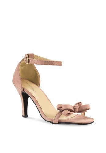 Play! Glenda Velvet Strappy Heels from Velvet in pink_2