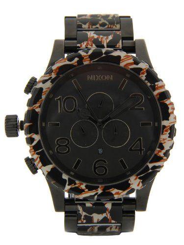 cool Nixon 51-30 Chrono Watch – Men s All Black Leopard f09c8f1643