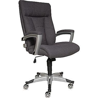 Nice Sealy Santana Fabric Executive Chair, Fixed Arms, Gray (9843G) | Staples