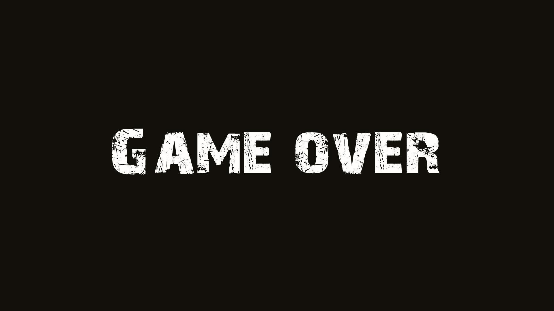 Game Over Art HD Wallpaper | Cool Wallpapers Twitter Backgrounds For Gamers