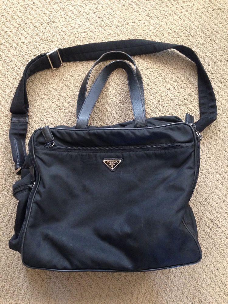e8e7eae94656 100% AUTHENTIC PRADA Tessuto Diaper Bag Messenger Style in Black Nylon Baby  Bag  PRADA  MessengerDiaperBag