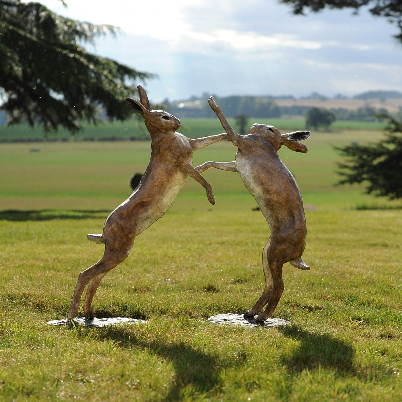 Boxing Hares By Theodore Gillick Bunny Art Animal 400 x 300
