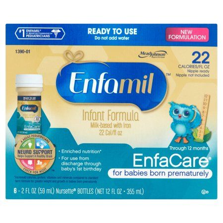 Enfamil Enfacare Baby Formula For Preemie Babies Ready To Use 2 Oz 48 Pack Walmart Com Baby Formula Enfamil Newborn Formula Milk