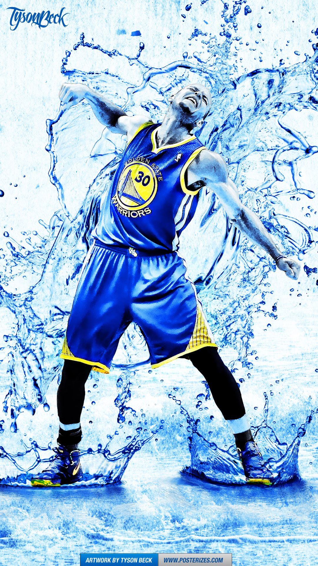 Stephen Curry \'Splash\' Wallpaper Posterizes NBA