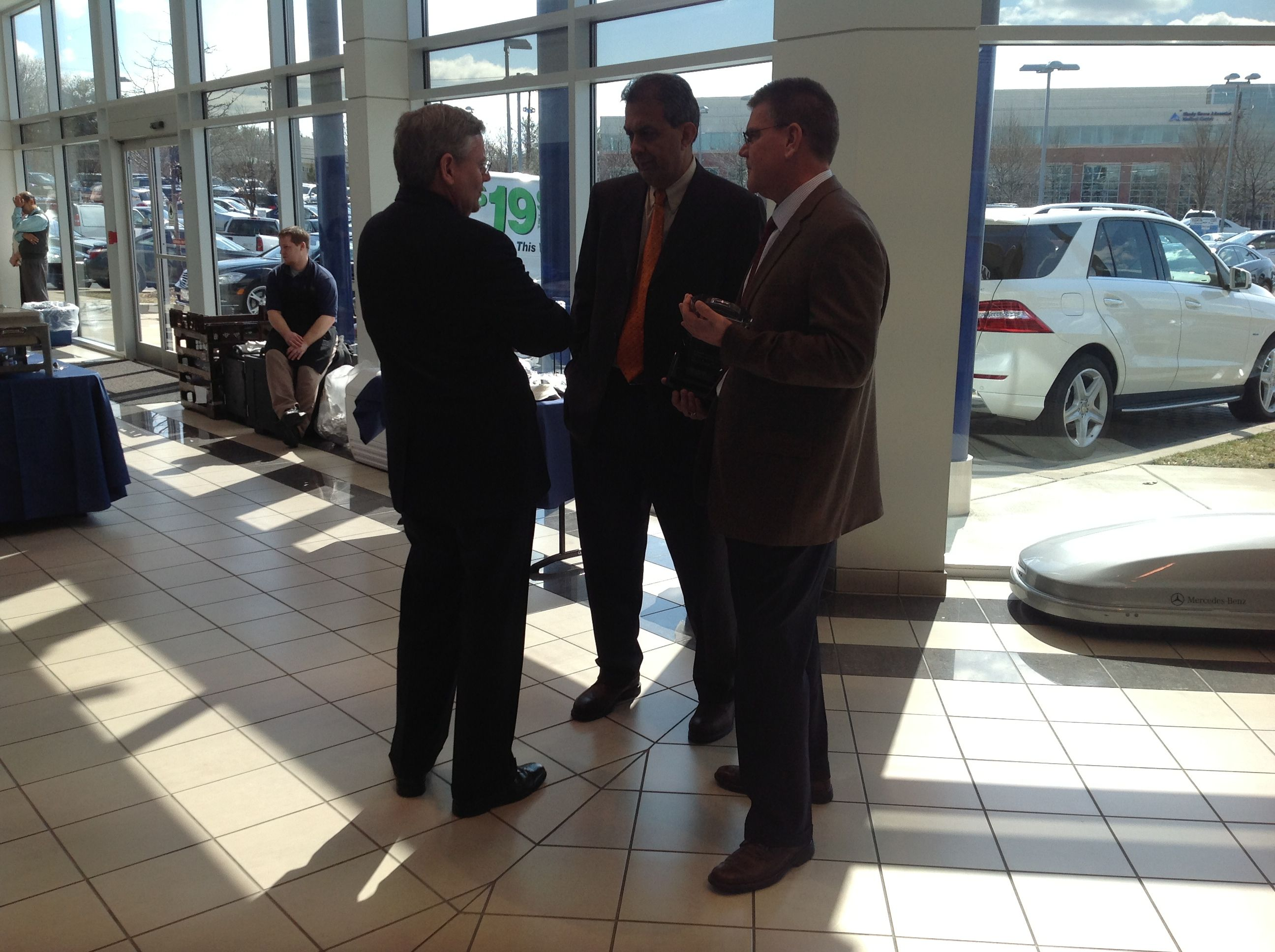 From Left To Right   Pete Collins (Mercedes Benz USA North East Region .