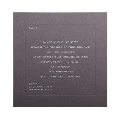 Smythson Contemporary Wedding Invitation